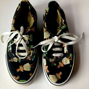 Vans Hula Girl Print Blue Green Sneakers